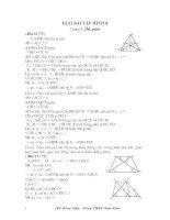 giải bài tập hình học 8