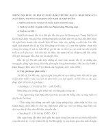 NHỮNG NỘI DUNG CƠ BẢN VỀ NGÂN HÀNG THƯƠNG MẠI VÀ HOẠT ĐỘNG CỦA NGÂN HÀNG THƯƠNG MẠI TRONG NỀN KINH TẾ THỊ TRƯỜNG