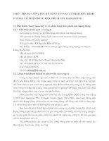 THỰC TRẠNG CÔNG TÁC KẾ TOÁN TÀI SẢN CỐ ĐỊNH HỮU HÌNH Ở CÔNG CỔ PHẦN BÓNG ĐÈN PHÍCH NƯỚC RẠNG ĐÔNG
