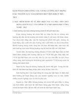 GIẢI PHÁP CHO CÔNG TÁC TĂNG CƯỜNG HUY ĐỘNG CÁC NGUỒN LỰC TÀI CHÍNH CHO VIỆN KHCN MỎ - TKV