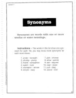 Vocabulary Builder - Synonyms
