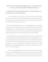 MỘT SỐ Ý KIẾN NHẰM HOÀN THIỆN QUẢN LÝ NHÀ NƯỚC ĐỐI VỚI CÁC CỤM CÔNG NGHIỆP TRÊN ĐỊA BÀN HÀ NỘI