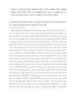 THỰC TẾ KIỂM TOÁN KHOẢN MỤC TIỀN TRONG QUY TRÌNH KIỂM TOÁN BÁO CÁO TÀI CHÍNH DO CÔNG TY DỊCH VỤ TƯ VẤN TÀI CHÍNH KẾ TOÁN VÀ KIỂM TOÁN THỰC HIỆN