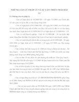 NHỮNG CĂN CỨ PHÁP LÝ VÀ SỰ CẦN THIẾT PHẢI ĐẦU TƯ