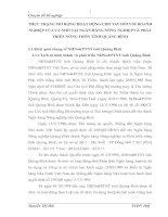 THỰC TRẠNG MỞ RỘNG HOẠT ĐỘNG CHO VAY ĐỐI VỚI DOANH NGHIỆP VỪA VÀ NHỎ TẠI NGÂN HÀNG NÔNG NGHIỆP VÀ PHÁT TRIỂN NÔNG THÔN TỈNH QUẢNG BÌNH