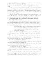 CƠ SỞ LÝ THUYẾT CÁC PHƯƠNG PHÁP XỬ LÝ SINH HỌC NƯỚC THẢI