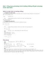 Ứng dụng phương trình đường thẳng để giải phương trình căn thức