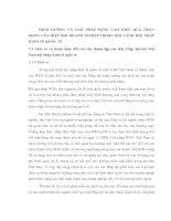 ĐỊNH HƯỚNG VÀ GIẢI PHÁP NÂNG CAO HIỆU QUẢ HOẠT ĐỘNG CỦA HIỆP HỘI DOANH NGHIỆP TRONG BỐI CẢNH HỘI NHẬP KINH TẾ QUỐC TẾ