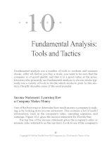 Fundamental Analysis - Tools and Tactics