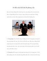 10 điều nên biết khi đi phỏng vấn