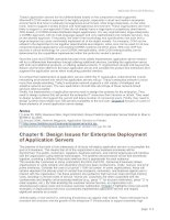 Design Issues for Enterprise Deployment of Application Servers