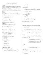 Công thức giải nhanh bài tập vật lý 12