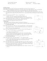 Đề thi HK 1 - Vật Lý 11 THPT Thủ Đức