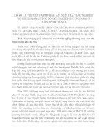 CƠ SỞ LÝ THUYẾT VÀ PHƯƠNG ÁN ĐIỀU TRA TRẮC NGHIỆM TỔ CHỨC MARKETING DOANH NGHIỆP THƯƠNG MẠI Ở THÀNH PHỐ HÀ NỘI