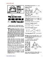 Xác định các yếu tố trong tam giác