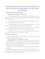 TỔ CHỨC BỘ MÁY KẾ TOÁN VÀ HỆ THỐNG KẾ TOÁN TẠI CÔNG TY CỔ PHẦN KINH DOANH XÂY LẮP VÀ BẤT ĐỘNG SẢN TIẾN PHÁT