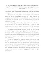 HOÀN THIỆN KẾ TOÁN BÁN HÀNG VÀ KẾT QUẢ KINH DOANH TẠI CÔNG TY CỔ PHẦN THƯƠNG MẠI VÀ DỊCH VỤ TỔNG HỢP ĐỨC THÀNH