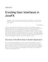 Creating User Interfaces in JavaFX