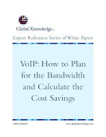 VoIP: How to Plan for the Bandwidth and Calculate the Cost Savings