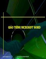 Giáo trình Microsoft Word