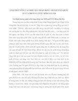 GIẢI PHÁP NÂNG CAO HIỆU QUẢ HOẠT ĐỘNG THANH TOÁN QUỐC TẾ CỦA NHNN VÀ PTNT  ĐÔNG HÀ NỘI