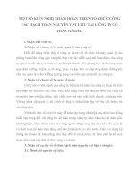 MỘT SỐ KIẾN NGHỊ NHẰM HOÀN THIỆN TỔ CHỨC CÔNG TÁC HẠCH TOÁN NGUYÊN VẬT LIỆU TẠI CÔNG TY CỔ PHẦN HÀ BẮC