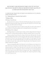 MỘT SỐ KIẾN NGHỊ NHẰM HOÀN THIỆN CÔNG TÁC KẾ TOÁN HẠCH TOÁN CHI PHÍ VÀ TÍNH GIÁ THÀNH SẢN PHẨM TẠI CÔNG TY CỔ PHẦN BÊ TÔNG READYMIX VIỆT NAM