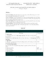 Đề và đáp án thi lại sinh 10 -8/2010