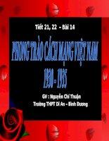 Bài  14. Phong trào CM 1930-1935 (tiết 2)