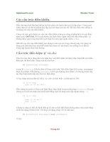Các cấu trúc điều khiển và hàm