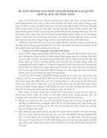 ĐỀ XUẤT NHỮNG GIẢI PHÁP VÀ KIẾN NGHỊ ĐỂ GIẢI QUYẾT NHỮNG ÁCH TẮC PHÁT SINH