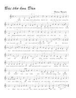 Bài hát bài thơ hoa đào - Hoàng Nguyên (lời bài hát có nốt)