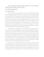 THỰC TRẠNG QUÁ TRÌNH HOẠT ĐỘNG CỦA CÁC HIỆP HỘI DOANH NGHIỆP TRONG THỜI GIAN QUA