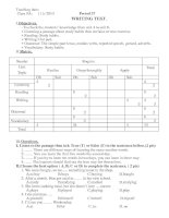 Tiết 37: Kiểm tra tiếng anh lớp 8