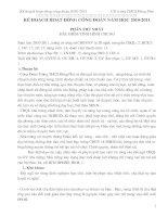 KẾ HOẠCH HOẠT ĐỘNG CÔNG ĐOÀN 10-11