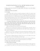 TÍN DỤNG NGÂN HÀNG VÀ CÁC CHỈ TIÊU ĐÁNH GIÁ CHẤT LƯỢNG TÍN DỤNG