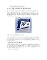 10 cach khac phuc khi file Word bi hong