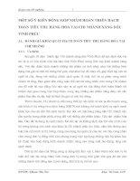 MỘT SỐ Ý KIẾN ĐÓNG GÓP NHẰM HOÀN THIỆN HẠCH TOÁN TIÊU THỤ HÀNG HÓA TẠI CHI NHÁNH XĂNG DẦU VĨNH PHÚC