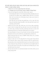 ĐỀ XUẤT MỘT SỐ GIẢI PHÁP NÂNG CAO HIỆU QUẢ KINH DOANH TẠI CÔNG TY TMDV THĂNG THIÊN