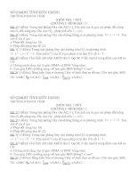 KIỂM TRA 1 TIẾT HÌNH HOC 11 CHƯƠNG I CHUẨN