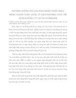 PHƯƠNG HƯỚNG VÀ GIẢI PHÁP HOÀN THIỆN HOẠT ĐỘNG THANH TOÁN  QUỐC TẾ THEO PHƯƠNG THỨC TÍN DỤNG CHỨNG TỪ TẠI VIETCOMBANK