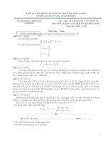3 đề tuyển sinh lớp 10 môn Toán và đáp án