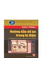 Giáo trình đồ án hướng dẫn trang bị điện