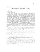 Chương 9 Rối loạn cân bằng acid - Base