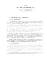 Chương 3: QUÁ TRÌNH CHUYỂN PHA TRONG VẬT LIỆU