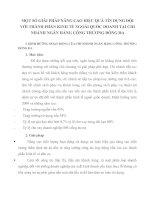 MỘT SỐ GIẢI PHÁP NÂNG CAO HIỆU QUẢ TÍN DỤNG ĐỐI VỚI THÀNH PHẦN KINH TẾ NGOÀI QUỐC DOANH TẠI CHI NHÁNH NGÂN HÀNG CÔNG THƯƠNG ĐỐNG ĐA
