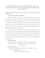 THỰC TRẠNG XÂY DỰNG VÀ TỔ CHỨC THỰC HIỆN KẾ HOẠCH TIÊU THỤ SẢN PHẨM CỦA CÔNG TY TNHH ĐẦU TƯ VÀ PHÁT TRIỂN CÔNG NGHỆ SITD
