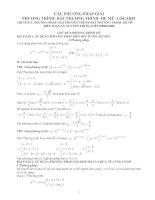 Phương pháp giải bài tập pt - bpt - hệ mũ - logarit
