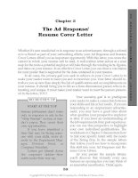 The Ad Response - Resume Cover Letter