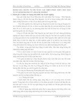 ĐÁNH GIÁ CHUNG VÀ ĐỀ XUẤT CÁC BIỆN PHÁP THÚC ĐẨY SẢN XUẤT KINH DOANH CỦA DOANH NGHIỆP